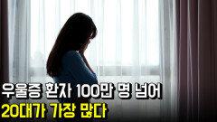 우울증 환자 100만 명 넘어…20대가 가장 많다