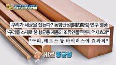 '홍익 금속' 구리의 특징 중 주목해야 할 점 ☞ '항균성'