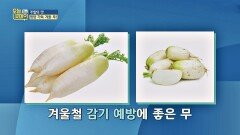 겨울철 감기 예방에 탁월한 제철 음식 '무'