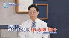 정상체중보다 당뇨 위험이 7배나 더 높은↑ 비만   JTBC 211025 방송
