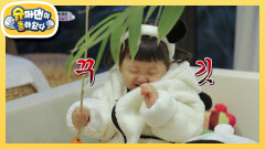 아기 판다에게 반한 돼끼 판다 도하영 | KBS 210307 방송