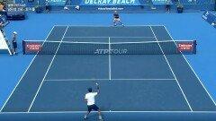 남지성 vs 토미폴 2세트-1 [ ATP투어 2021 델레이 비치 오픈]