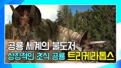 세 개의 뿔로 육식 공룡의 공격을 막는 초식 공룡 트리케라톱스 [공룡의 왕국 Deadly Dinosaurs]