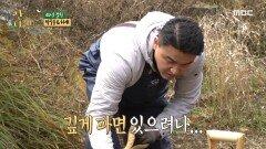 """""""산속에 미꾸라지가..?"""" 삽질 시작하는 박중훈 & 허재, MBC 210111 방송"""