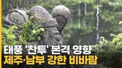 태풍 '찬투' 본격 영향 제주·남부 강한 비바람 [이슈픽]
