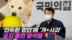 '전두환 망언'에 '개+사과' 사진 올린 윤석열…여야 집중포화 [엠픽]