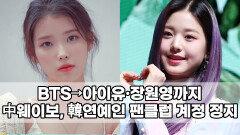 BTS→아이유·장원영까지…中웨이보, 韓연예인 팬클럽 계정 정지