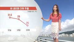 [06/09] 내일 밤~모레 전국 비…한여름 더위 주춤 (이지현 기상캐스터)