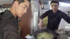 박군, 셰프급 요리 솜씨 뽐내며 초간단 굴짬뽕 완성!