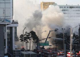 을지로4가 화재 발생…종로 일대까지 검은 연기