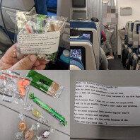 """""""시끄러울 수 있어요""""…비행기서 아이 엄마가 나눠준 선물"""