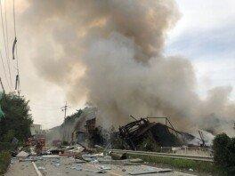 안성 제조공장서 폭발 추정 화재… 소방관 1명 순직