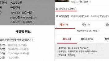 """""""꽃가마 태워서 오나""""… 음식점 배달비에 '불만 폭주'"""