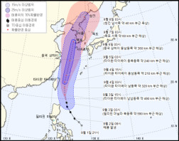 제13호 태풍 링링, 소형→중형급으로…주말 한반도 강타