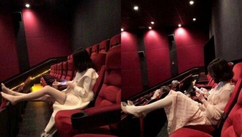 """영화관 앞좌석에 발 올려놓은 여성…""""사람 없으면 OK vs 절대 안 돼"""""""