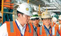 """三星副会长李在镕访问沙特地铁施工现场,表示""""中东是新的机会之地"""""""
