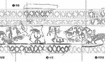 庆州市蓝井地区44号墓内发现祭祀用陶器碎片