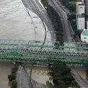 汉江大桥时隔9年再响洪水警报,首尔道路多处浸水