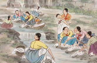 喜爱朝鲜的日本画家展示风景画等64幅作品