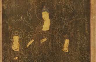 """乘云而下的阿弥陀佛的""""金光姿容"""""""