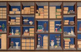 宫廷画员李宅均《册架图屏风》被指定为首尔有形文化遗产