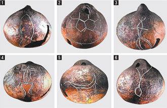 印有伽耶建國傳說的一件土制鈴鐺被發現