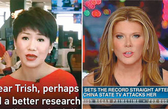 U.S. and China's TV anchors hold proxy war of words