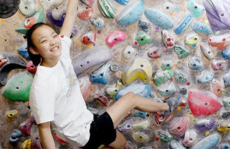 Climbing rookie Seo Chae-hyun prepares for Olympics