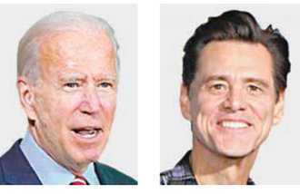 Versatile actor Jim Carrey plays Joe Biden