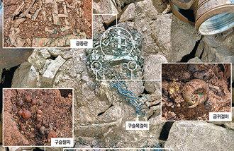 非火伽耶の墓の中の飾り具が「1500年ぶりの外出」