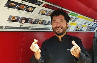 「韓国の味を伝えたい」 TGVレストランで韓国食弁当を作るボワイエさん