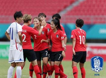 여자축구, 대만 완파하고 3회 연속 동