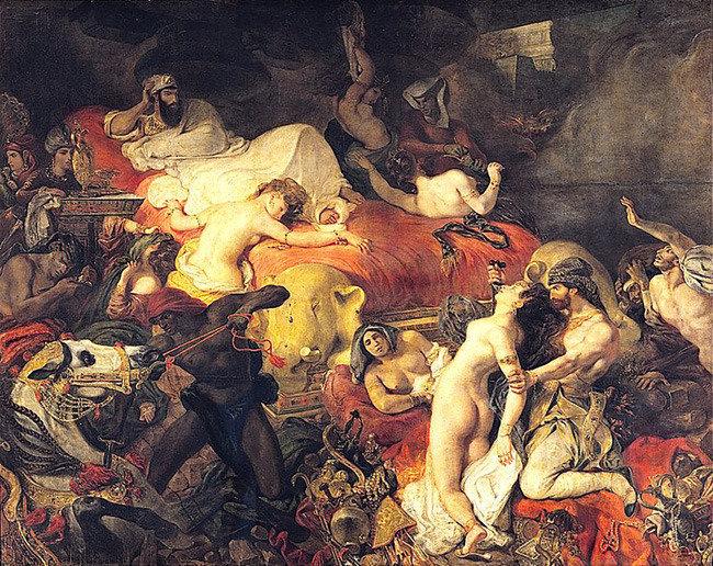 민중을 이끄는 자유의 여신 사르다나팔루스의 죽음