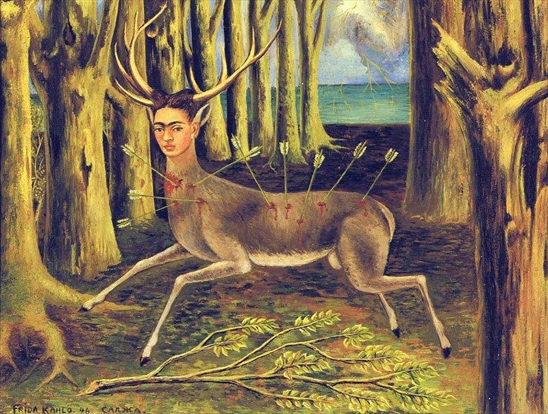 프리다 칼로 - '상처 입은 사슴' '우주, 대지(멕시코), 디에고, 나 그리고 세뇨르 솔로틀의 사랑의 포옹'