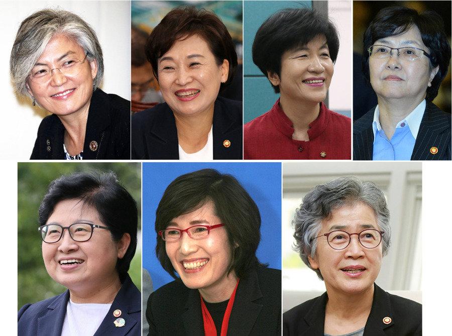 文정부 여성장관 7人 7色 셀럽, 둘째언니 혹은 鬪士… '공주'는 없다