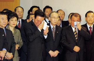 한나라당 히든카드 '박근혜의 삭발'