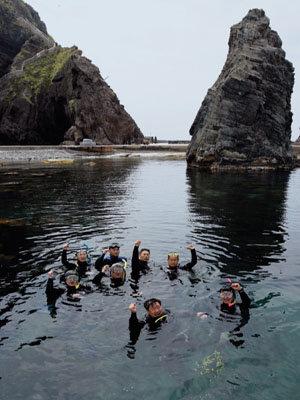 '바다의 날' 독도 수중 정화작업