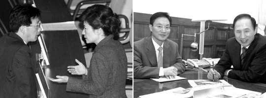 박근혜·이명박의 복심(腹心), 유승민 vs 정두언