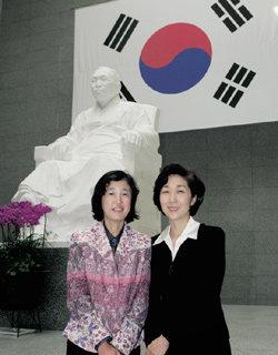 김구 손녀 김미 & 안중근 조카손녀 안기수