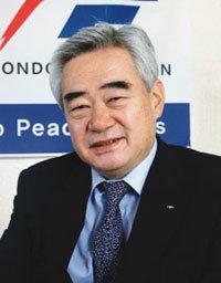 3선에 성공한 세계태권도연맹 총재 조정원