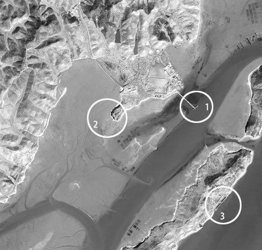 서해 NLL 인근 북한군 기지 위성사진