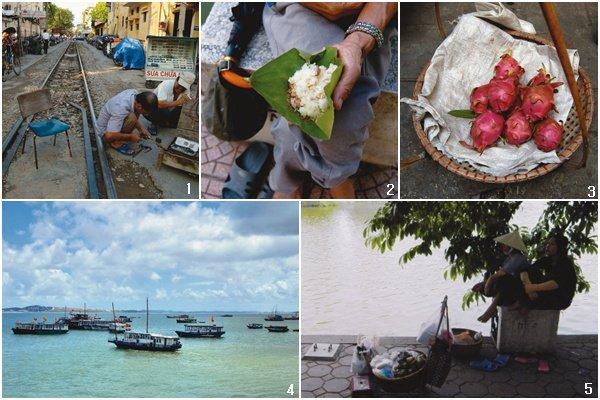 여기저기 돌아다니는 베트남 하노이 행상들