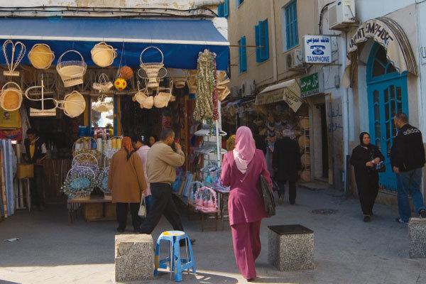 색채의 향연장 튀니지 튀니스 시장