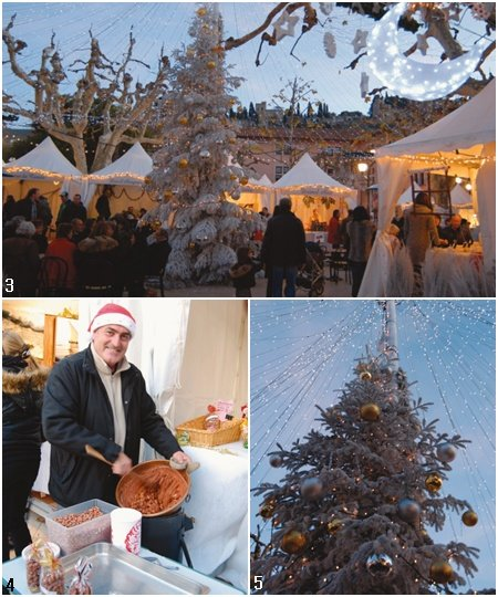 축제를 펼치는 시장 남프랑스 크리스마스 시장