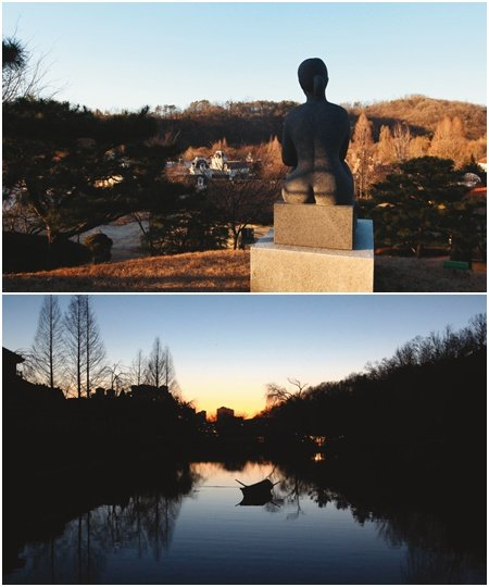 '사랑의  종소리  들리는 한국민속촌  야외조각공원'