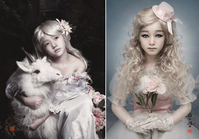 금발의 동양 여인 초상으로 주목받는 도로시 엠 윤