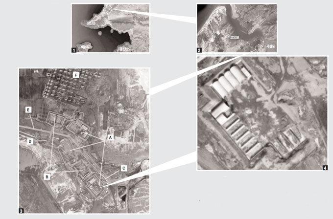 북한이 건설 중인 서해 공기부양정 전진기지 위성사진