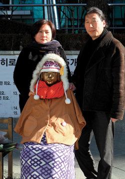'평화의 소녀상' 만든 조각가 부부 김운성·김서경