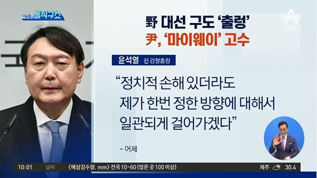 野 대선 구도 '출렁'…윤석열, '마이웨이' 고수