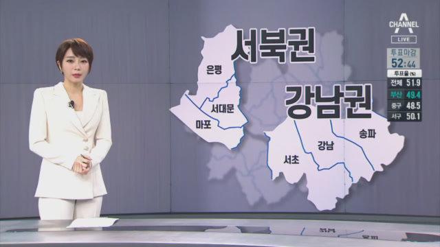 서울 강남 3구 투표율 상위 휩쓸어…금천구 가장 낮아